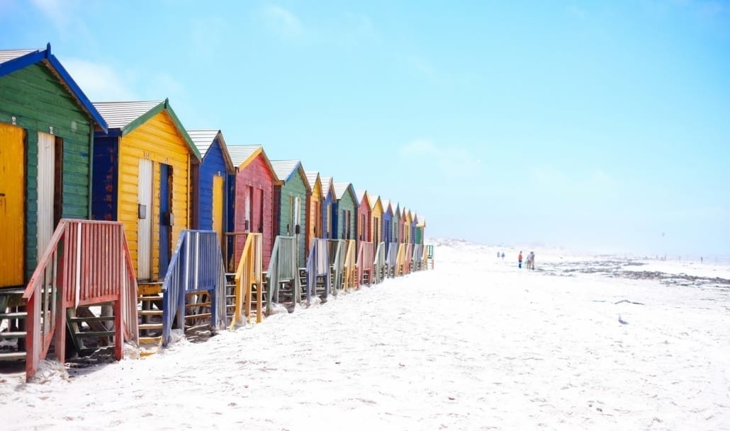 Beautiful places to visit on future trips to Cape Town - Muizenberg Beach Huts